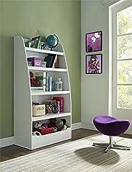 Ameriwood Home Mia Kids\' 4 Shelf Bookcase (White)