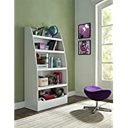 Altra Furniture Ameriwood Home Hazel Kids' 4 Shelf Bookcase, White