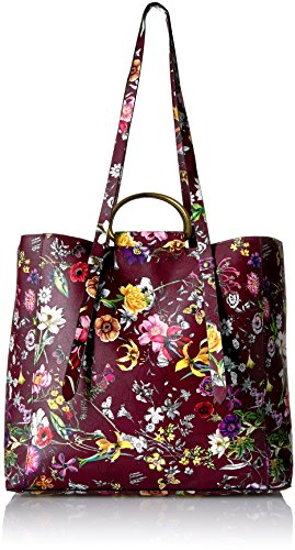 T-Shirt & Jeans Floral Ring Tote, Burgundy