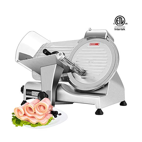 VIVOHOME 110V 320W 10 Inch Heavy Duty Stainless Steel Electric Meat Slicer Machine for Home and Commercial Use ETL… 1
