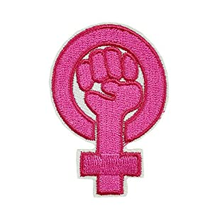 Girl Power fist Pride Woman's Movement Pink Feminist Resistance Embroidered Iron on sew on Patch Applique for Clothing