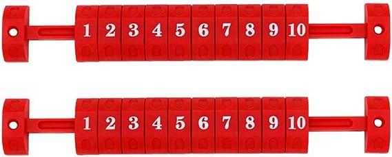 2 Piezas Scoreboard Marcador de puntuación y Tiempo Tablero de Marcador de Mesa Tablero de futbolín portátil Marcador de Mesa Marcador de puntaje Flipper 26.7 X 4 CM: Amazon.es: Hogar