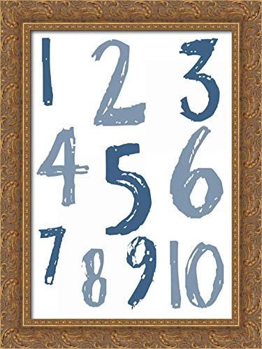 Whats Your Number 19x24 Gold Ornate Wood Framed Canvas Art by Lewis, Sheldon
