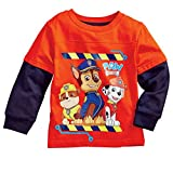 Nickelodeon Boys Paw Patrol Character T-Shirt Red Long Sleeved Tee Shirt 2T