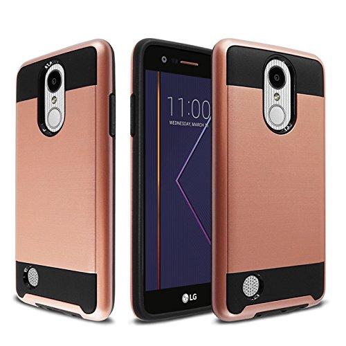Inner Grace Skin Care At (LG K20 Plus Case, LG K20 V Case, LG Harmony Case, LG Grace Case, Onyxii Hybrid Shockproof Dual Layer Brushed Texture Slim Protector Cover for LG LV5 - Rose Gold)
