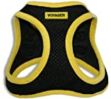 "Voyager Step-In Air Dog Harness - All Weather Mesh, Step In Vest Harness for Small and Medium Dogs by Best Pet Supplies - Yellow, Medium (Chest: 16"" - 18"")"
