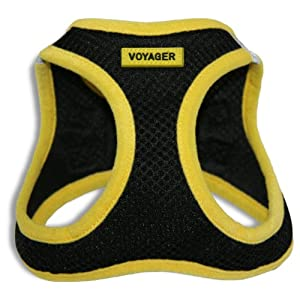 Voyager All Weather No Pull Step-in Mesh Dog Harness with Padded Vest, Best Pet Supplies, Medium, Yellow