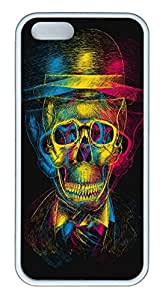 iPhone 5s Cases & Covers - Skull Custom TPU Soft Case Cover Protector for iPhone 5s - White