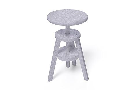 Abc meubles sgabello a vite s grigio alluminio amazon