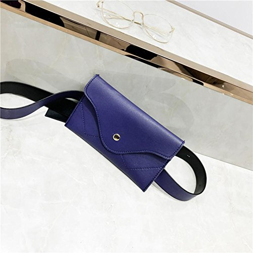 Clutch Messenger Elegant Evening Black Splice Leather Women Pure Blue Color Envelope Pocciol Handbags Wallet zT1H5Pq