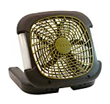 O2COOL Treva 10-Inch 2 Speed Battery Powered Portable Fan With Adjustable LED Lights