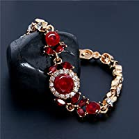 Meenanoom Noble Braclet Austrian Crystal 3Colors 18k Gold Plated Leaves Women Bracelet