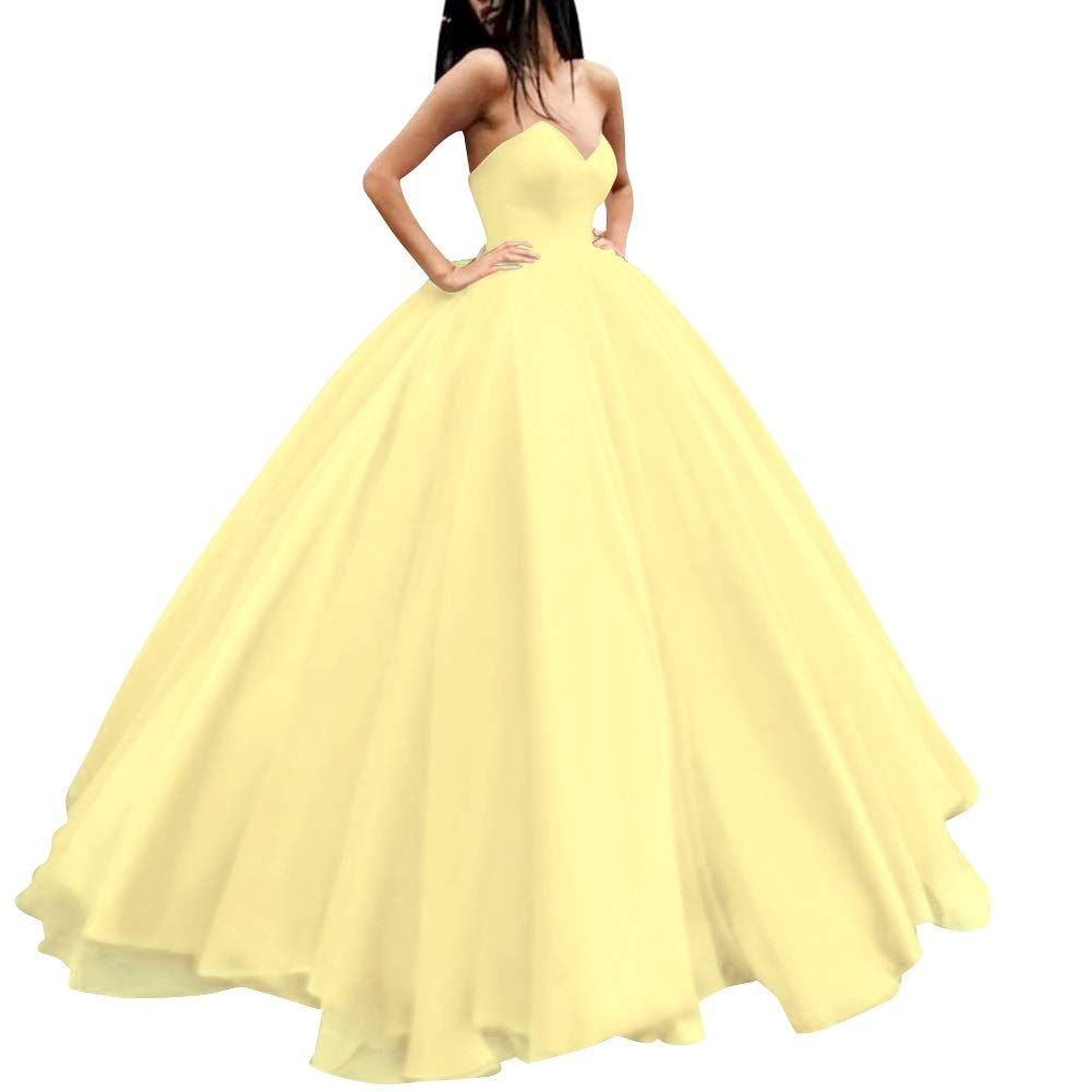 Daffodil MorySong Women's Sweetheart Prom Ball Gown Lace Up Pageant Quinceanera Dress