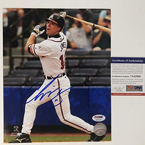 - Autographed/Signed Chipper Jones Atlanta Braves 8x10 Baseball Photo PSA/DNA COA #3