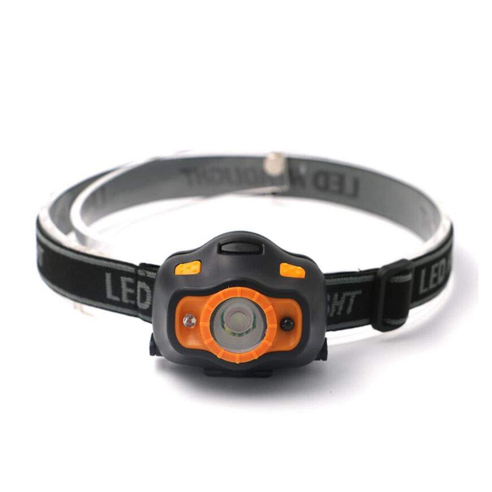 Yaxuan Torcia LED Testa, Mini Portatile LED Corpo Umano sensore proiettore Outdoor Camping Illuminazione Notte di Pesca fari Luce Forte per Il Campeggio, Lettura, Esecuzione