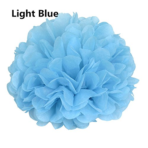 10 Pcs Tissue Paper Pom Poms Flower Ball Xmas Party Wedding Baby shower Home Decore 10