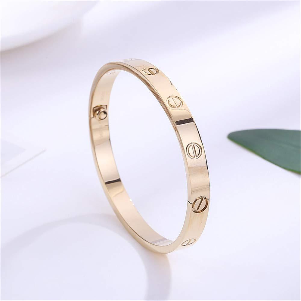 BESTJEW Womens Love Bracelet Stainless Steel Cuff Bangle Bracelet with Screwdriver 6.7Inch Gold by BESTJEW (Image #2)