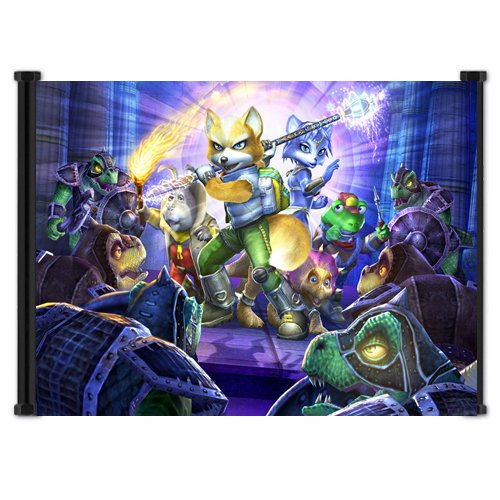 (Star Fox Adventures Game Fabric Wall Scroll Poster (21
