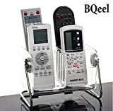 BQeel TV Remote Control Holder Organizer, 360° Rotate Acrylic Remotes Caddy Media Storage with 6 Removable Compartments - Holds 6 More Remotes