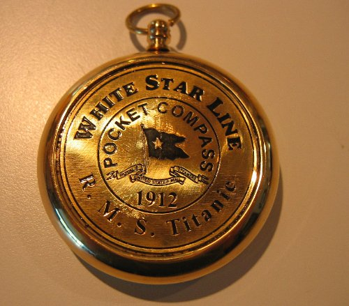 RMS Titanic 1912 Brass Pocket Compass! Beautiful Working - Flat Shipping Number Rate Tracking