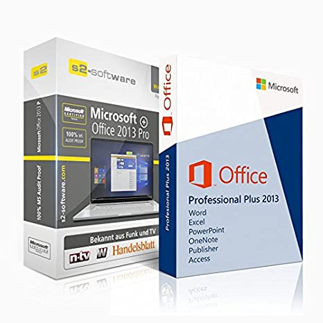Microsoft® Office Professional (PRO) Plus 2013 Original-Lizenz. S2+ ISO DVD. 32&64 bit. Deutsche Version. Audit Sicher + Papiere