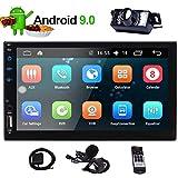 EinCar 2DIN Car Stereo 7' Touch Screen HD Radio Bluetooth Double 2 Din Android 9.0 System Car Player Head Unit GPS Navigation FM/AM RDS Autoradio Video AUX WiFi Mirrorlink Remote Control Rear Camera