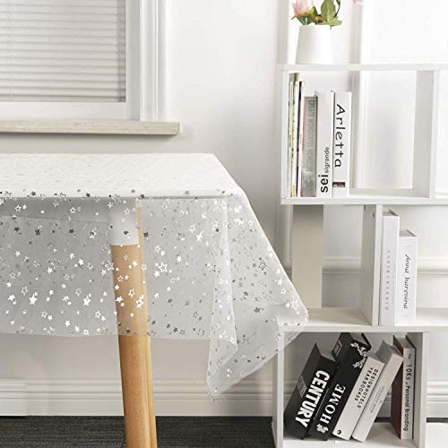 SUO AI TEXTILE Decorative Table Cloth Polyester Tablecloths Girls Stylish Table Protector Starry Sky Table Cover for Party Wedding Banquet Rooms Decoration 60