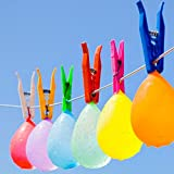 eaglefuny Water Balloons,333 Water Balloons 9 Bunches Easy Quick Fill in 60 Seconds Parties and Summer Party for Kids Summer Splash Fun, Water Bomb Game