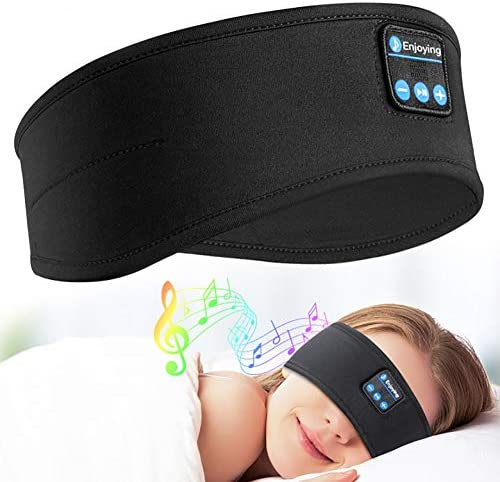 Sleep Headphones Bluetooth Headband - Upgrade Soft Noise-Canceling Headphones for Sleeping Sports HeadbandsUltra-Thin HiFi Stereo Speakers - Long Time Play Sleep Earbuds for Sleeping Workout