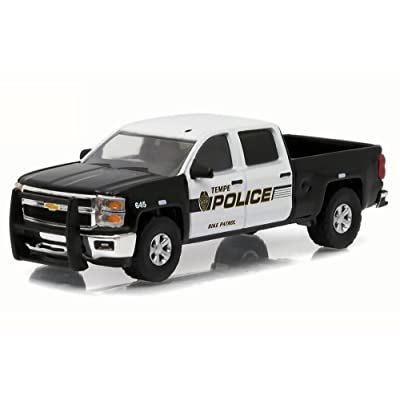 Greenlight 1: 64 Hot Pursuit Series 19 - 2015 Chevrolet Silverado - Tempe Police (Tempe, Arizona) Diecast Vehicle: Toys & Games