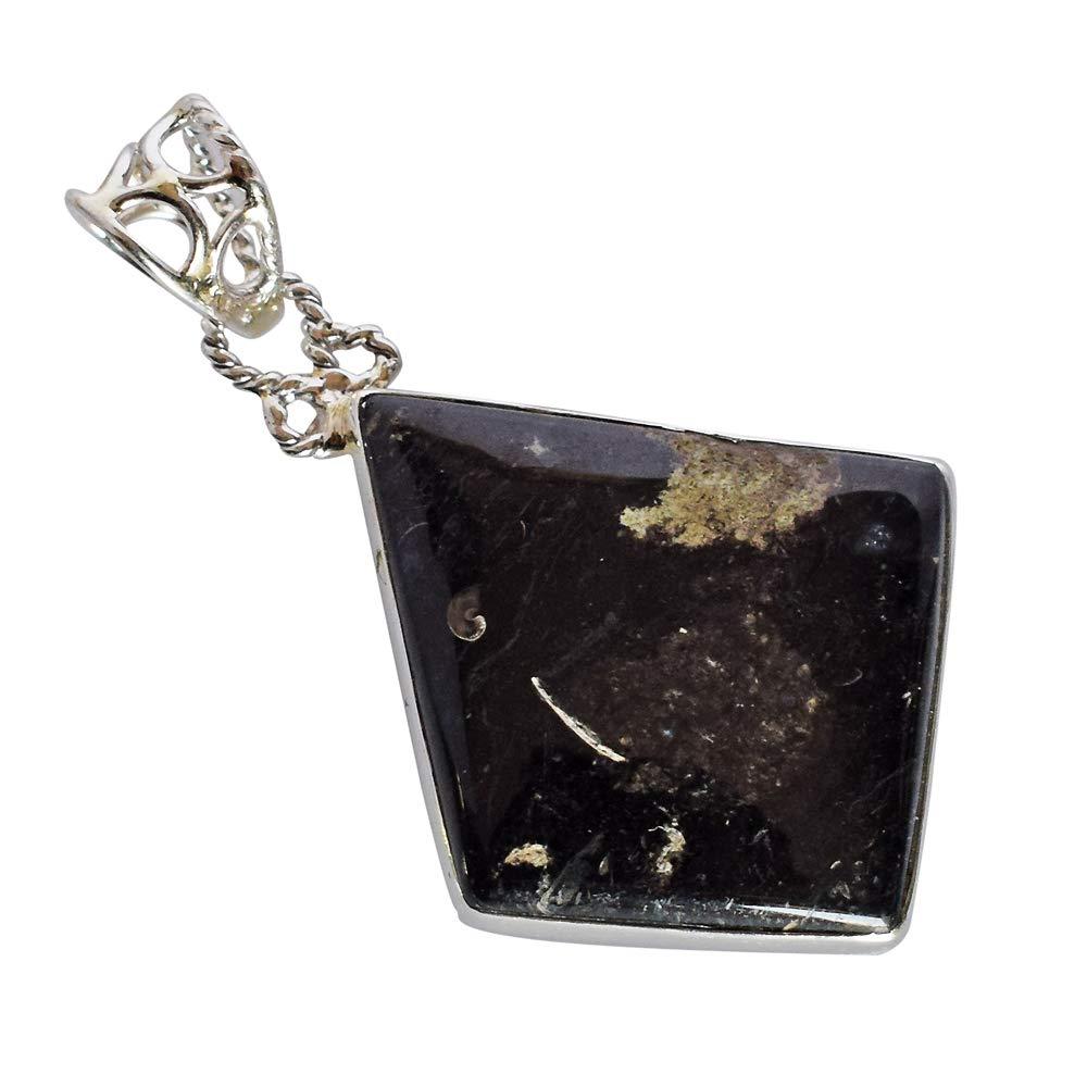 Esclusivo Galaxy diaspro gemma fatto a mano in argento Sterling 925massiccio ciondolo per donna fsj-2394
