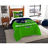 NFL Seattle Seahawks Twin Comforter and Sham, One Size, Multicolor