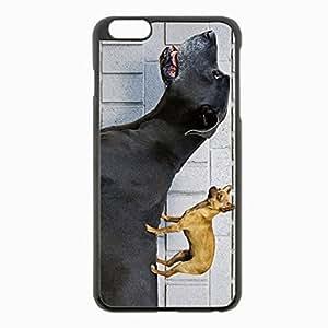 iPhone 6 Plus Black Hardshell Case 5.5inch - big dog dog friendship Desin Images Protector Back Cover by mcsharks