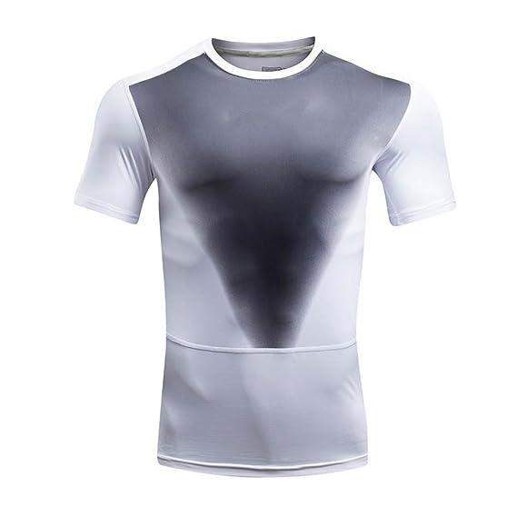 Camiseta Para Hombre, ❤️Xinantime Camiseta Para Hombre Imprimir O Cuello Camiseta Deportes Camisetas de Manga Corta: Amazon.es: Ropa y accesorios