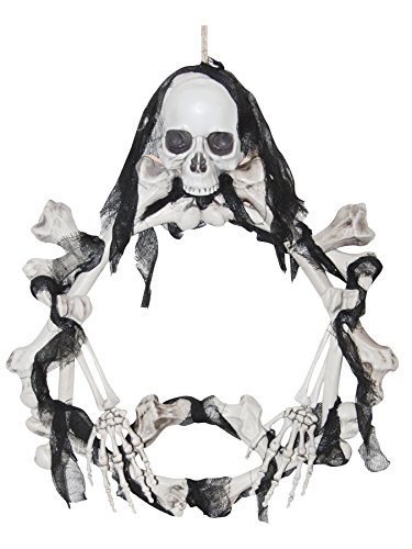 Light Up Skeleton Wreath