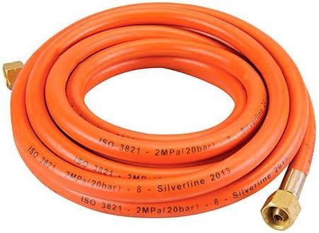 Silverline 633926 Gasschlauch mit Verbindern 2 m