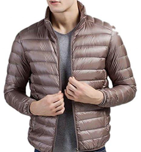 Mens Down Solid EKU Lightweight Coats light Jacket tan Fashion XXL dxAAUqXBw
