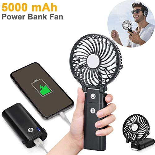 - USB Mini Fan with Water Spray Bottle Cartoon Handheld Fan for Office Desktop Handheld Fan Mini Small Personal Fan Lithium Fan Ultra Quiet Outdoor Sports Or Work Computer (Black)