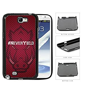 Hashtag Never Yield School Spirit Slogan Chant Samsung Galaxy Note II 2 N7100 Hard Snap on Plastic Cell Phone Cover by runtopwell