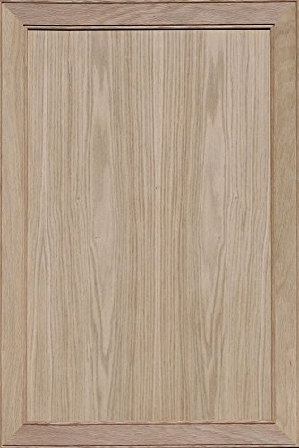 Unfinished Oak Mitered Flat Panel Cabinet Door by Kendor, 36H x 24W