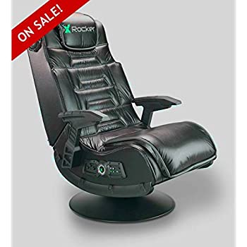 Amazon Com Wireless Gaming Chair Seat Black Leather Faux