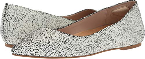 Dr. Scholl's Women's Kimber - Original Collection White/Black Cracked up Leather 10 M US