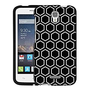 Alcatel OneTouch Pop Astro Case, Snap On Cover by Trek Beehive Black Case