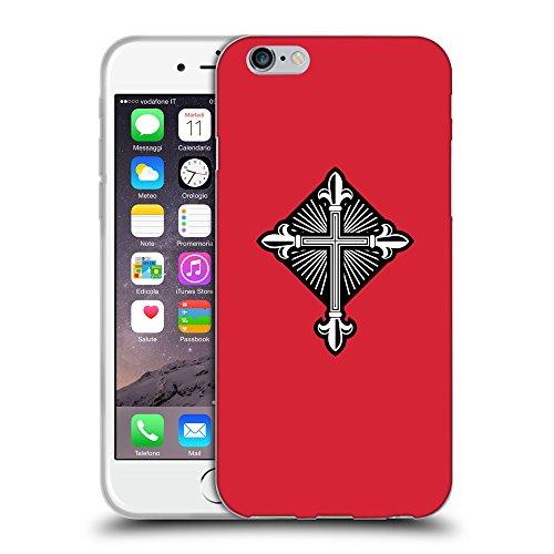 GoGoMobile Coque de Protection TPU Silicone Case pour // Q08010601 Christian Cross 26 Alizarine // Apple iPhone 7