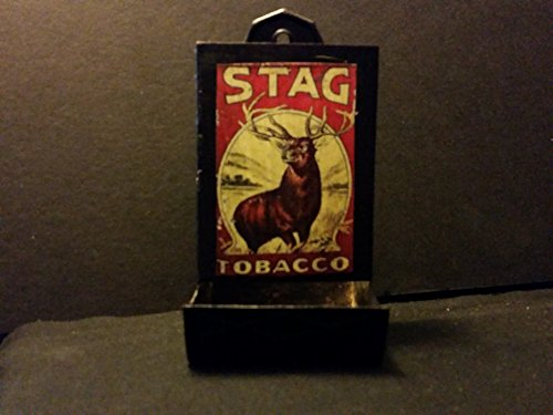 (Vintage Style Stag Tobacco Tin Matchbox Holder...Handcrafted by Artist...Nice)