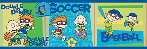 Brewster 147B02103 Nickelodeon Rug Rats Sports Wall Border [並行輸入品]