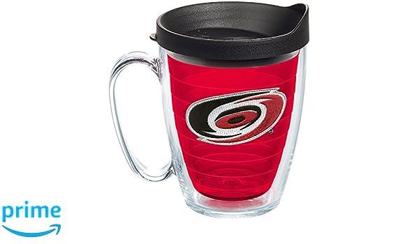 Tervis 1245955 NHL Carolina Hurricanes Primary Logo Insulated Tumbler with Emblem and Black Lid 16oz Mug Red
