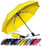 Repel Windproof Travel Umbrella with Teflon Coating (Yellow)