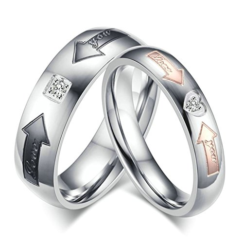 [Aooaz Free Engraving Ring Stainless Steel Ring Arrows