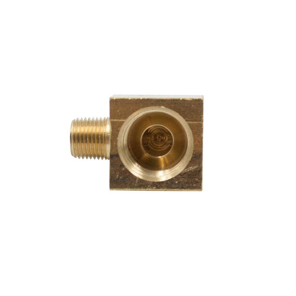Legines Brass Inverted Flare Fitting, Barstock Brake Line 90 Degree Male Elbow, 3/8'' Tube OD x 1/4'' NPT Male, Pack of 2